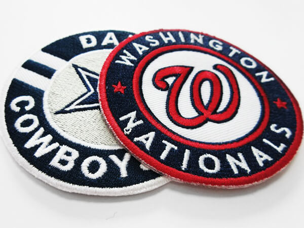 Embroidered Patch with Velcro and Heat Seal Backing
