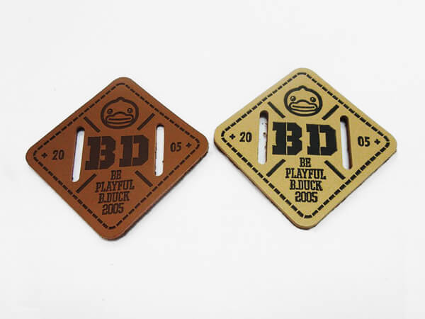 Embossed Leather Labels