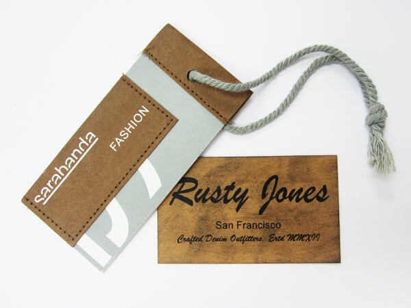 2 Different Leather Hang Tags